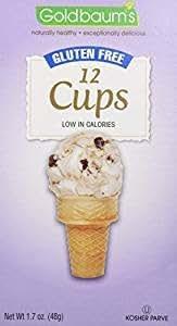 Goldbaum's Gluten-Free Ice Cream Cone Cups, 1.76 Ounce (Case of 12)