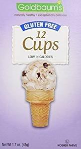 Goldbaum's Gluten-Free Ice Cream Cone Cups, 1.76 Ounce (Case of 12) - Goldbaums Ice Cream Cones