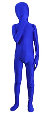 Seeksmile Kids Costume Full Body Lycra Zentai Suit (Small, Blue) ()
