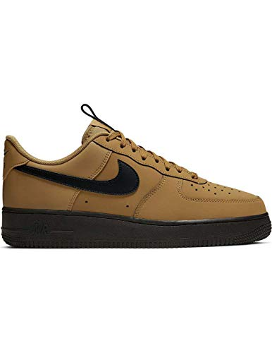 Nike Men's Air Force 1 '07 Low Casual Shoes (9.5, Wheat/Midnight Navy/Black) (1 Force Air Brown)
