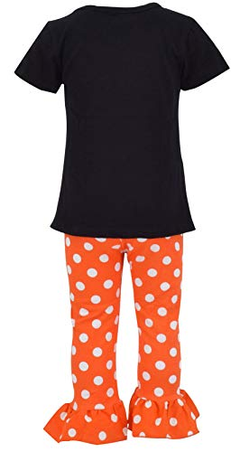Unique Baby Girls Fall Fashion Halloween Polka Dot Pumpkin Outfit (3t) by Unique Baby (Image #1)