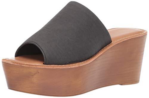 (Chinese Laundry Women's Waverly Wedge Sandal Black Nubuck 11 M US)