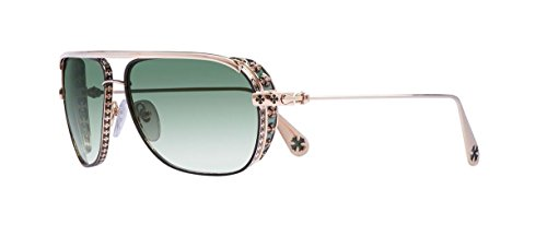 Chrome Hearts - Boneyard I - Sunglasses (Dark Chocolate Brown/Gold Plated-with Side Shield, Dark Green - Sunglasses Online Chrome Hearts