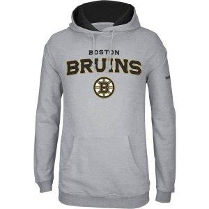 Reebok Nhl Playbook Hoody - Boston Bruins Reebok 2013 NHL Playbook Hooded Sweatshirt - Gray