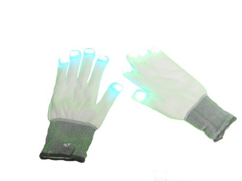 WeGlow International Light Up Multicolor LED Glove - White