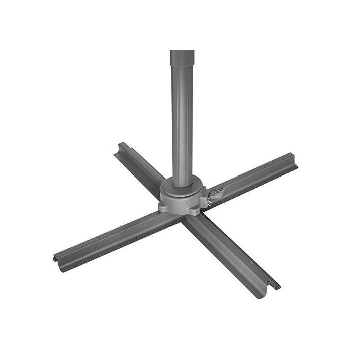 31WnvEd7vaL Acapara todas las miradas con la elegancia y el exquisito diseño del parasol ajustable de tectake // Medidas totales (largo x ancho x alto): aprox. 372 x 300 x 250 cm // Medidas plegado (largo x ancho x alto): aprox. 100 x 100 x 260 cm. Gracias a su mecanismo de manivela, control deslizante y pedal, esta sombrilla colgante se abre y se coloca rápidamente y sin esfuerzo en la posición que usted desee // Diagonal del parasol: aprox. 300 cm // Altura de paso: aprox. 210 cm // Grosor de la tela: 180 g/m². Este parasol con soporte lateral posee un robusto poste y una práctica base que puede soportar hasta cuatro placas de base, proporcionando así la estabilidad requerida // Tubo vertical (largo x ancho): aprox. 7 x 5 cm // Base (largo x ancho): aprox. 100 x 100 cm // Peso: aprox. 15,8 kg.