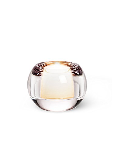 Clear Glass Small Ball Tealite Tealight Candle Holder 2.5