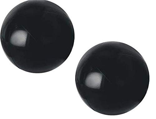 JSPORT (Pack of 2) PVC Black Beach Balls - 18in ()