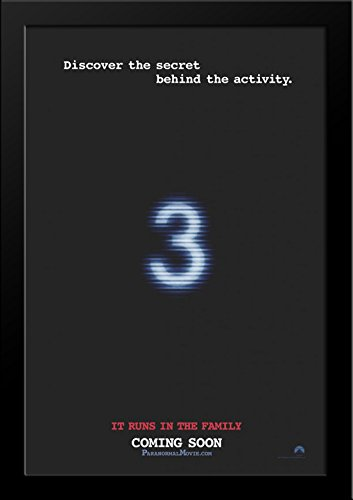 Paranormal Activity 3 28x36 Large Black Wood Framed Movie Poster Art Print by ArtDirect
