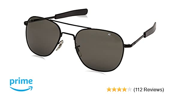 0b95c78c5f Amazon.com  AO Eyewear Original Pilot Sunglasses 52mm Frames with Bayonet  Temples and True Color Grey Glass Lenses (OP52S.BA.TC)  Sports   Outdoors