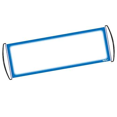 "ZipSign Blue Dry Erase Banner Rolls Itself Up, Unrolls to 9.5"" x 27"", Reusable, Handheld, Portable, Fits in Your Pocket – Great for Sports, Concerts, Cheer, Team Spirit - 1-Year Warranty ()"