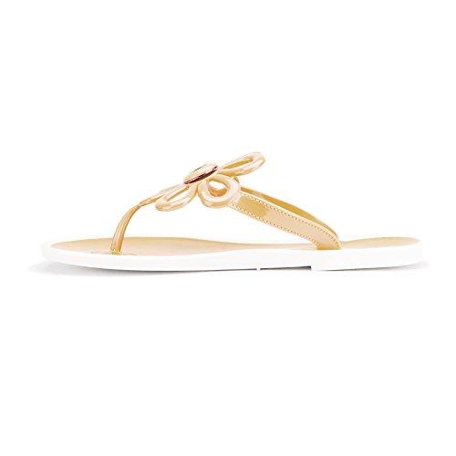 Chimie Flo-2 Sandales Plates Des Femmes Slip Sur Des Chaussures Tongs Nude