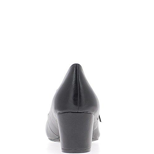 Escarpins femme grande taille noirs à talon de 5,5cm et fine bride
