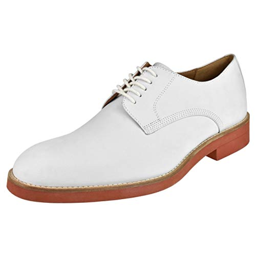 Peter Huber Mens Shoes Classic Buck Oxford Buck-White White 11 M US]()