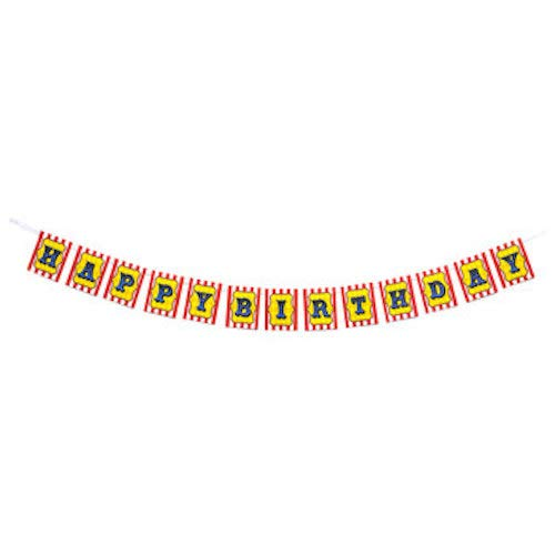 Circus Birthday Banner Wall Decoration Party Supplies (Argyle Ribbon Grosgrain)