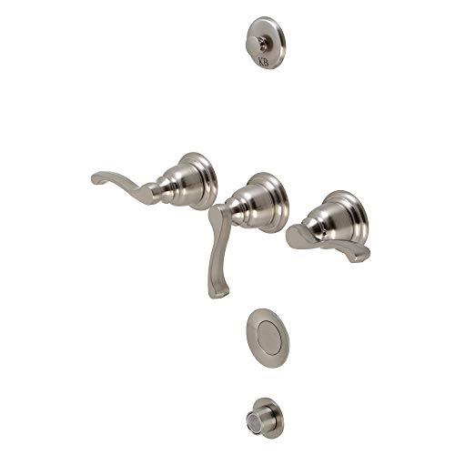 Brushed Nickel Bidet Faucet - Kingston Brass KB328FL Bidet Faucet, Brushed Nickel