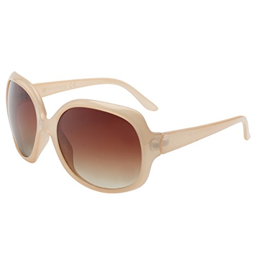 VIVIENFANG Elegant Classic Oversize Polarized Sunglasses for Women Fashion Driving Shades P1981I Nectar Nude