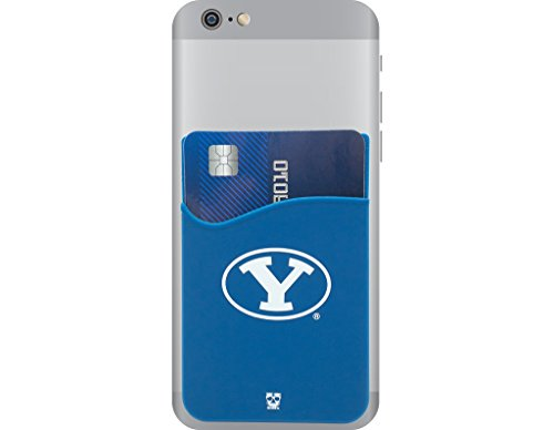 BYU Cougars Adhesive Silicone Cell Phone Wallet/Card Holder for iPhone, Android, Samsung Galaxy, Most Smartphones