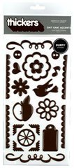 - Thickers Chit Chat Puffy Accents Stickers- Chestnut