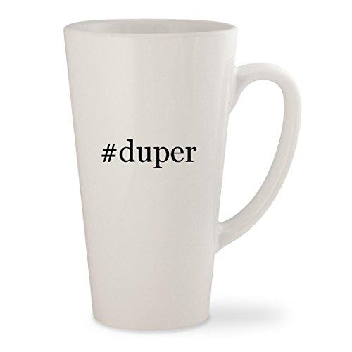 #duper - White Hashtag 17oz Ceramic Latte Mug - Karen Walker Bag