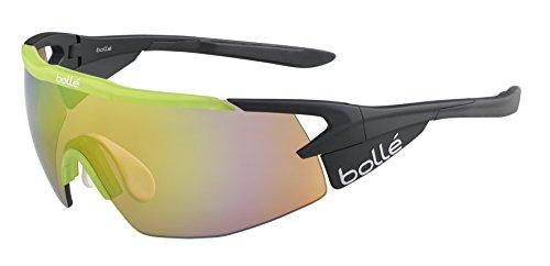 Bolle Aeromax Sunglasses Matte Black/Translucent Green, Multi by Bolle