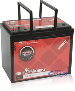 Shuriken 12-Volt High Performance AGM Power Cell Battery for Systems Up To 1650-Watts