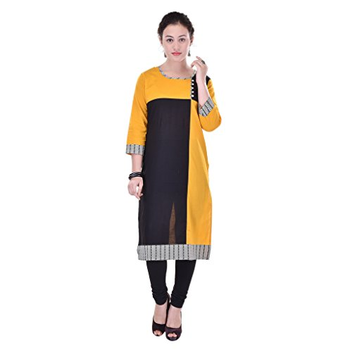 Gaura Yellow Color Solid 60 * 60 COTTON Kurti