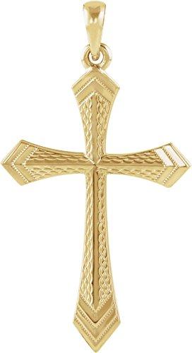 Men's 14k Yellow Gold Passion Cross Pendant (14k Passion Cross Pendant)