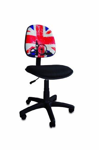 my note deco 064107 british flag chaise de bureau grand modèle ... - Chaise De Bureau Ado