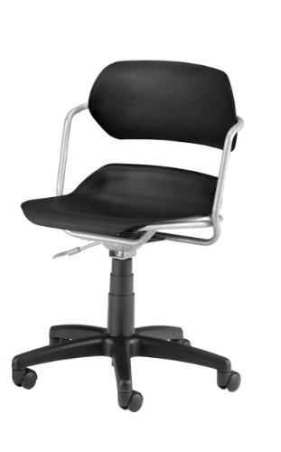 Slvr Series - OFM 200-SLVR-BLK Martisa Series Silver Frame with Black Seat Plastic Task Chair