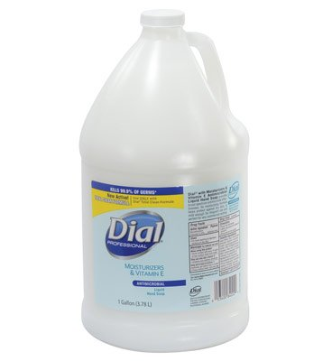 Dial Moisturizer Liquid (Liquid Dial Moisturizers with Vitamin E Antimicrobial Hand Soap Refill (1 Gallon) (1 Bottle) - AB-600-1-19)