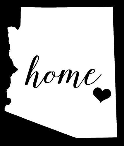LLI Arizona Home State | Decal Vinyl Sticker | Cars Trucks Vans Walls Laptop | White | 5.5 x 4.7 in | LLI1218 ()