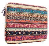 Plemo 15-15.6 Inch Bohemian Style Laptop Sleeve Case for MacBook Pro 15, Chromebook, Lenovo, Dell, Surface, Hp, Lenovo, Toshiba, Acer, Asus - Edge Netbook Backpack