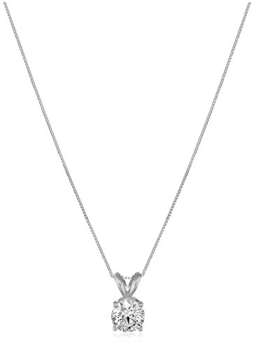 IGI Certified 14k White Gold Lab Diamond Pendant Necklace (1 ct, I-J Color, SI1-SI2 Clarity), 18