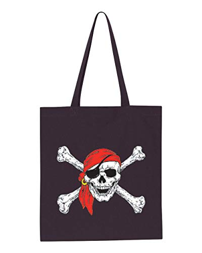 Jolly Roger Skull & Crossbones Pirate Flag Tote Handbags Bags for Work School Grocery Travel (GSN) -