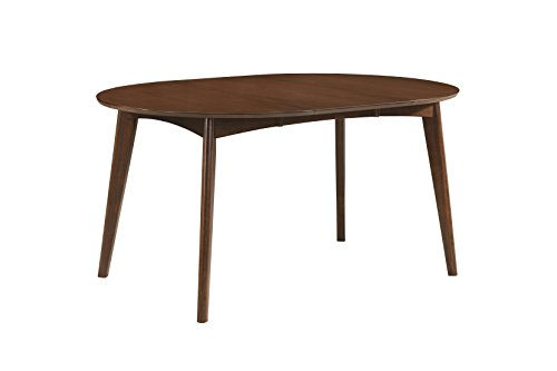 Malone Oval Dining Table Dark Walnut