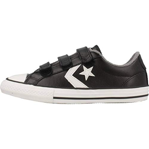 001 Mason Converse Unisex White Vintage Zapatillas Multicolor Deporte Star Black Adulto Player 3v de rwvxOprY
