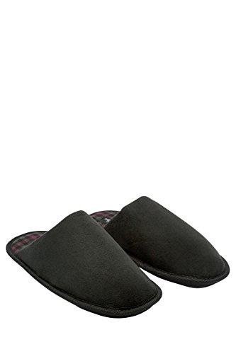 next Hombre Pantuflas Zapatillas de estar por casa Zapatos abiertos Memory Foam Negro