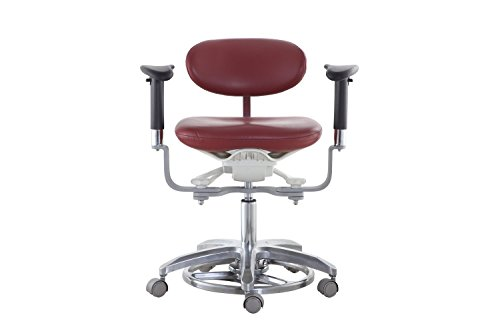 SoHome Microsope Dynamic Chair Foot Controlled Doctor's Mobile Stool with Swiveling Armrest MDS-FC1 by SoHome (Image #8)