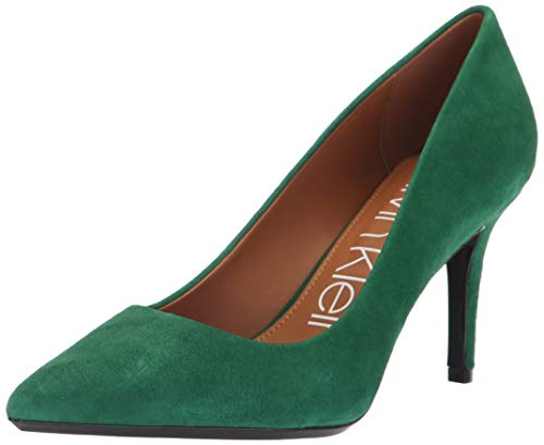 Calvin Klein Women's Gayle Pump, Grass Green, 7 Medium US (Calvin Suede Heels)