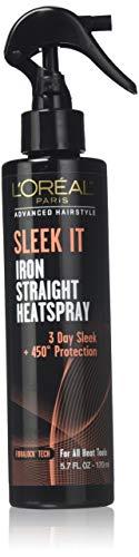 L'Oreal Paris Advanced Hairstyle Sleek It Iron Straight Heatspray, 5.7 Fluid Ounce (Pack of 3)