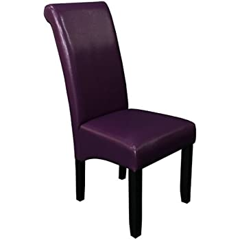 Monsoon Pacific Milan Faux Leather Dining Chairs, Boysenberry, Set Of 2