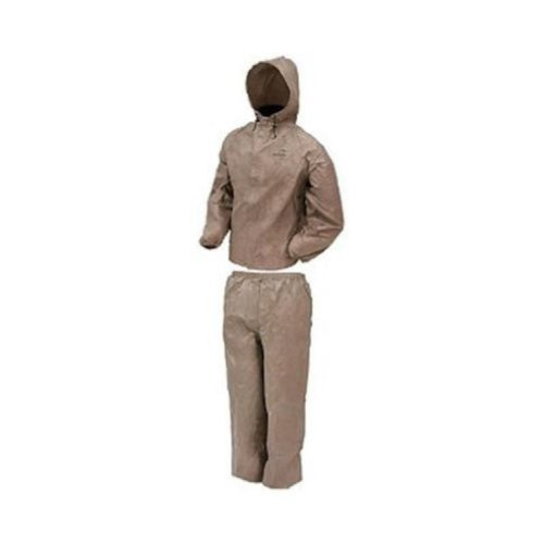 Raincoat Khaki - Frogg Toggs Ultra-Lite2 Waterproof Breathable Rain Suit, Men's Khaki, Size X-Large