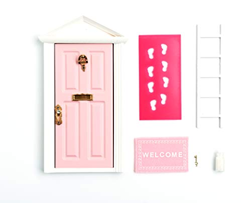 Wooden Dollhouse Miniature Roof Fairy Door for Baby Room Decoration