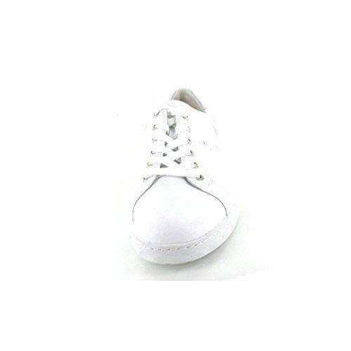 Waldläufer Para Cordones Blanco Weite H Mujer de silber Zapatos weiss rarq4Ux