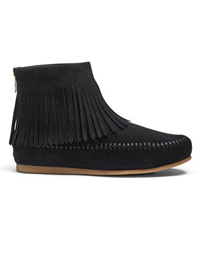 Womens Sole Diva Fringed Ankle Boots Black 46atNQI