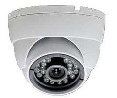 4FB 3-Axis IR Color CCD Dome Camera, White, 1/3