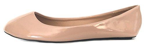 Shoes8teen Shoes 18 Womens Faux Suede Rhinestone Ballerina Ballet Flats Shoes 4051 Blush/Blush 6pHvF