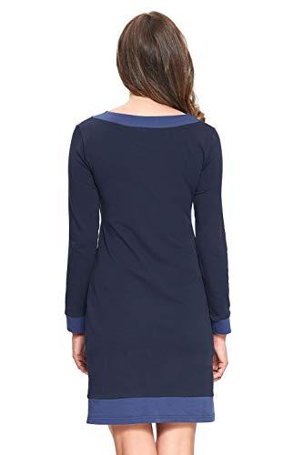 Navy Robe Blue D'allaitement dark Xl S Tailles Amyline Alina AYpwUqOq