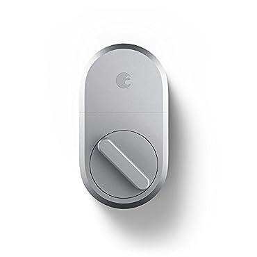 August Smart Lock, 3rd Gen technology Silver, Works with Alexa